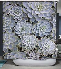 Cactus Desert Flowers Fabric Shower Curtain 70x70
