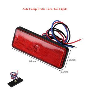 Motorcycle LED Reflector Tail Light E-Bike Side Lamp Brake Stop Turn Tail Lights