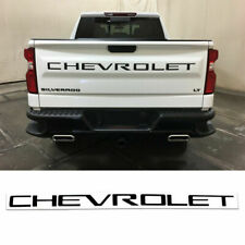 3D Domed Black Outlined Tailgate letters for Chevrolet Silverado 2019 2020