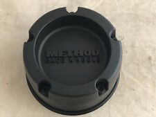Method Race Wheels Hub Cover Matte Flat Letters Black Center Cap 1524B127-1-S1