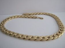 CURD CHAIN HEAVY WEIGHT GOLD  METAL  & RESIN SIZE   24 inch
