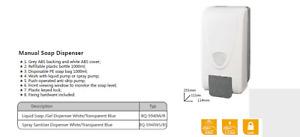 PUSH OPERATED SOAP DISPENSER WALL MOUNTED SANITISING DISPENSER FREE POSTAGE