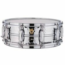 """New Ludwig Supraphonic LM400K Hammered Aluminum Snare Drum, 5"""" x 14"""" - USA Made"""