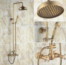"""Antique Brass 8"""" Bathroom Rainfall Shower Faucet Set Mixer Tap Hand Sprayer"""