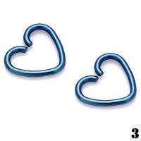 4× Surgical Steel Heart Ring Piercing Hoop Earring Helix Cartilage Tragus Daith
