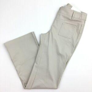 Ann Taylor Loft ANN Stretch Khaki Bootleg Pants Women Sz 0 Flat Front Career