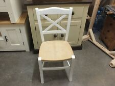 X1 PAINTED CROSS-BACK CHAIR CHOICE OF COLOURS FARROW & BALL ALL WHITE
