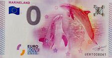 BILLET 0 ZERO EURO  SOUVENIR TOURISTIQUE MARINELAND 2015-1