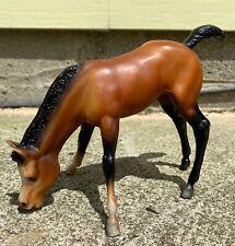 "VINTAGE TRADITIONAL BREYER MATTE BAY GRAZING FOAL MODEL 151 ""BOWS"" MODEL HORSE"