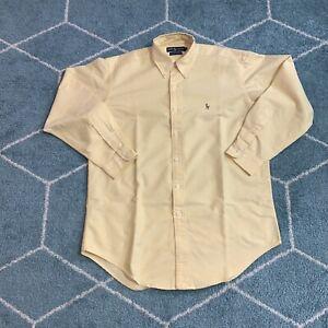 Polo Ralph Lauren Long Sleeve Button Shirt Men's 15.5-33 Yellow Yarmouth Cotton