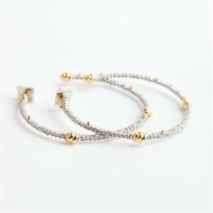 Alex Bittar Crystal Knot Hoop Earrings Mixed