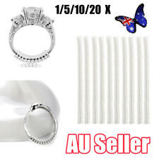 1-20pcs Ring size reducers Spiral Invisible Snugs Guard RESIZER ADJUSTERS TOOLS
