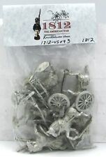 Knuckleduster 1812-US093 US Limber Crew & 6lb Gun Mid-War Uniform (1812) Cannon