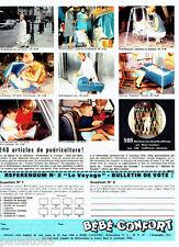 PUBLICITE ADVERTISING 046  1966  Bébé Confort  puériculture  sièges bambireve