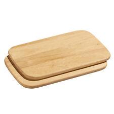 6 x Vesperplatte Vesperteller Platte Holz Teller Holzbrett aus Gummibaum Hevea