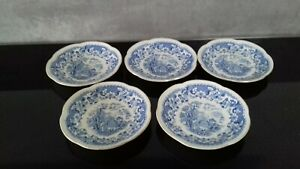 Seaforth blue and white saucers