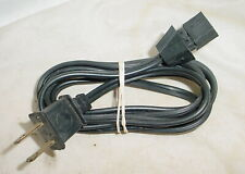 Vintage 2 Prong Ac Cheater Power Cord Tv Tube Radio Amp Polarized 5 Feet Long