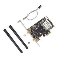 BCM943142HM 300Mbps Bluetooth 4.0 Wifi PCI-E Network Card Adapter Dupand Cable