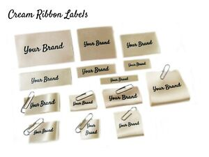 Personalised Custom Handmade Flat Folded Sew In Ribbon Fabric Clothes Labels
