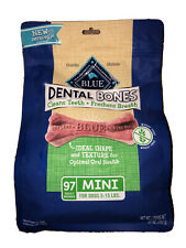 Blue Buffalo Dental Bones Treats Mini for Dog 5-15 lbs NET WT 27 oz (97 Counts)