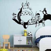 Wall Sticker Kids Cartoon 3D Totoro Room DIY Wallpaper Mural Art Home Decoration