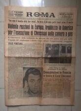 GIORNALE MORTE ESECUZIONE DI CHESSMAN CAMERA A GAS ROMA 3 MAGGIO 1960