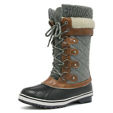 Women's Winter Boots Snow Fur Warm Insulated Waterproof Mid Calf Boots Shoes US
