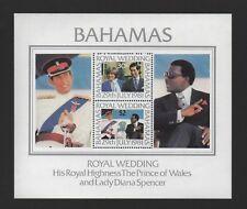 BAHAMAS 1981 ROYAL WEDDING M/SHEET *FINE MLH*
