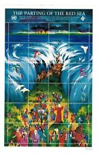 Guyana - Bible Stories Stamps - Parting Of The Red Seas - Sheet of 24 Stamps MNH