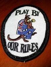 Play By Our Rules Aussie Kangaroo Patch - Sew/iron on rider biker motorcycle