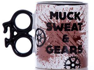 Muck Sweat & Gears Boxed Gift Mug: Cyclists, Cycling, MTB, Mountain Biking, Bike