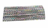 9YD-Crystal-Round-Rhinestone-Chain-Ribbon-Trim-Sew-Applique-Silver L 382