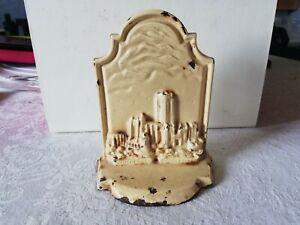 Rare vintage Liverpool Cathedral souvenir flatback high relief image metal