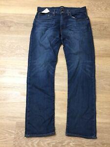 mens ralph lauren hampton relaxed straight blue denim jeans pants 32 X 32