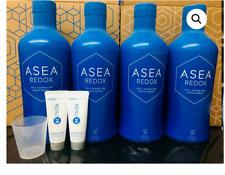 ASEA REDOX Water Dietary Supplement 4x 32 oz Bottles+2 RENU28 Sample