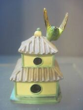 Lenox Garden BIRDHOUSE THIMBLE - Broad Billed Hummingbird on Pagoda
