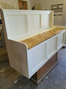 4ft Low Arm Solid Pine Storage bench