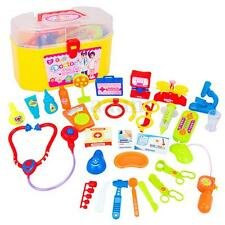 30Pcs Baby Kids Doctor Medical Playset Carry Case Kit Education Role Play Toys