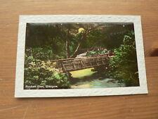 Old Photo Postcard, Rouken Glen, Glasgow, Embossed Border