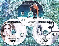 LADY GAGA Visual Marketing MUSIC VIDEO Reel 2008-2017 3 DVD Set 5.5 Hr 62 VIDEOS