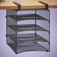 Hanging Desk Organizer with 4 Shelves for Office Organization - Bronze-Tone