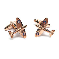 Rose Gold Coloured Spitfire Cufflinks Executive Gift For Him
