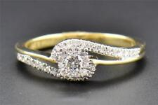 Engagement Bridal Ring Yellow Gold Over 1.50 Ct Round Cut Diamond Swivel Design