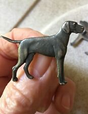 More details for 1 vintage early 50s silver plated pin gundog,field sports,english pointer brooch