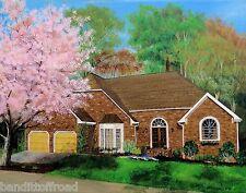 Home Art House Painting Artist Sharon Lamb Farm Cape Ranch Cabin Colonial