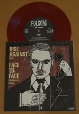 """Face to Face / Rise Against Split 7"""" Oxblood Vinyl, covers, Folsom Records"""