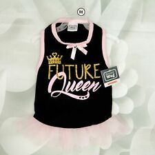 New listing Simply Wag Female Dog One Piece Future Queen Tutu Dress Size Medium Black/Pink