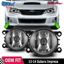 For 12-14 Subaru Impreza Winjet OE Factory Fit Fog Light Bumper Kit Clear Lens