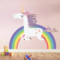 Cartoon Rainbow Unicorn Wall Sticker Decal DIY Children Kids Room Decoration