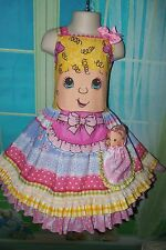 Blonde Hair Doll Summer Girls dress and doll toy Size 5t Ready Ship